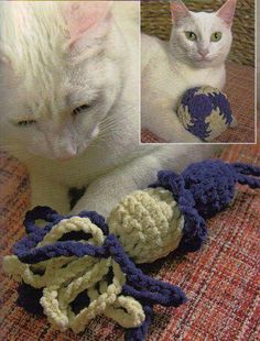 Cat toys from Maggie's Weldon Crochet
