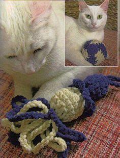 Cat toys from Maggie's Weldon Crochet