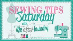 Don't let your sewing machine intimidate you! Check out these resources for learning your machine from lifeafterlaundry.com