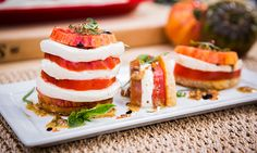 Home & Family - Recipes - Cristina Cooks Tomato-Mozzarella Tower | Hallmark Channel
