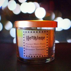 Hermione-scented 4oz candle: Grass, Parchment, and Toothpaste