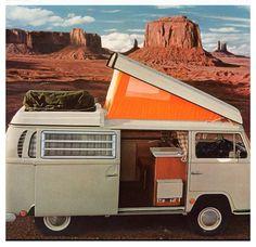 VW camper bus.