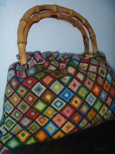 CROCHET BAG BAMBOO HANDLES PATTERN Crochet Patterns Only