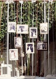 I like the idea of putting pictures of the groom and bride up.