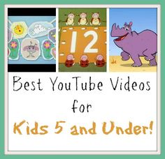 Keep this list of YouTube videos for kids under 5 handy for when boredom strikes! Thank goodness for free fun! :-)