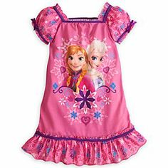 Disney Anna and Elsa Nightshirt for Girls - Frozen | Disney StoreAnna and Elsa Nightshirt for Girls - Frozen - She'll journey to mystical kingdom of Arendelle for wintry dreams of adventure wearing this soft, comfy nightshirt with colorful Frozen graphics featuring lovely Anna and Elsa.