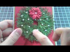 Minature Christmas Card Wreath Embellishment No. 1