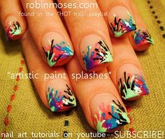 paint splatter nails <3