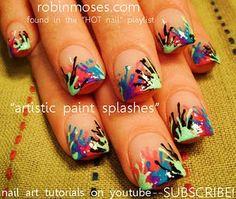paint splatter nails <3