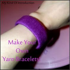 DIY Yarn Bracelets - Did you know you can make stylish little bracelets out of a toilet paper roll, yarn and duck tape? This is great for tweens!