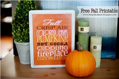 The Gilded Pear: Fall Is In The Air: Free Printable