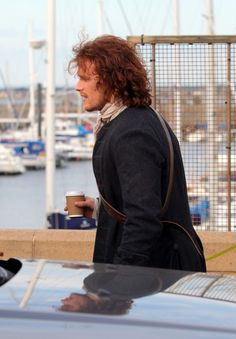 In pictures: Outlander stars film end of first series in Scottish town Troon - Scotland Now - #Outlander #Starz with Sam Heughan