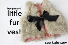 baby faux fur vest pattern + tutorial - see kate sew