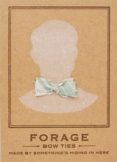 paper pastries: Forage bow ties