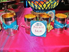 cute way to serve salads at a summer barbeque or party