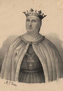 Beatrice of Castile (1242 - 1303). Queen  of Portugal from 1253 until her husband's death in 1279. She married Afonso III and had eight children.