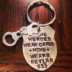 Some Heroes Wear Capes Mine Wears Kevlar by BehindtheBoots on Etsy, $25.00