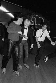 Andy Warhol rollerskating