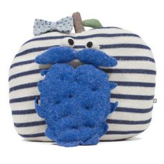 #oeufnyc PAIR OF EYE BALLS PINS on the new apple pillow and the blue #beard #pillow #stripes #eye #pins