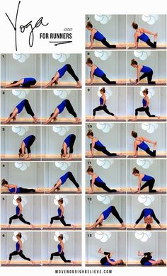 Our Yoga for runners routine. Get the full routine here - http://bit.ly/1mhqSs6