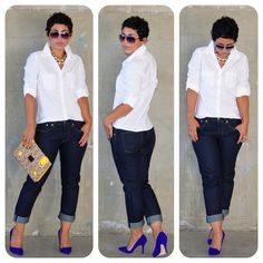 Today's Look: #Gap Fitted Boyfriend Shirt + Original Fit Jeans and Fabulous #Aldoshoes Sexy Pumps details here: http://www.mimigstyle.com/2012/08/aldo-sexy-pumps-gap-jeans-white-shirt.html