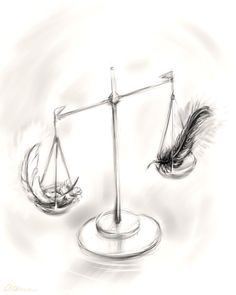 Libra scale tattoo- nothin but black and white