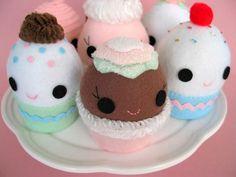 Cupcake Plushies #kawaii #cute #plushies #cupcakes
