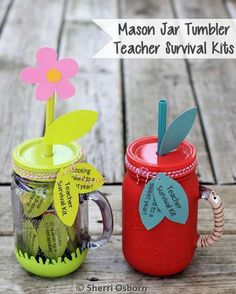 DIY Mason Jar Tumbler Teacher's Gifts