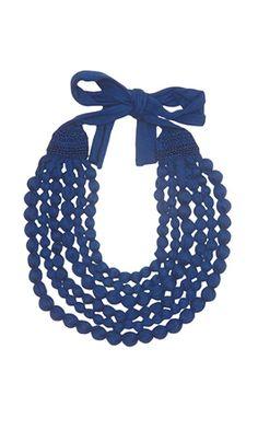 blue accessori, jewelleri, cecili necklac, true blue, plümo
