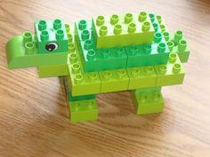 Lego Duplo Turtle- found on http://erinkelley.net/lego/2012/04/16/turtle-in-lego-duplo/#