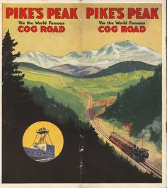 Pikes Peak Cog Railway Souvenir Brochure.