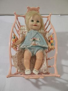 Vintage 1966 Susie Cute Deluxe Reading Doll Original w Bed Clothing Plastic | eBay