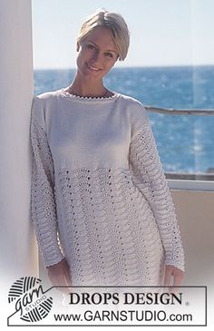 DROPS Long jumper with pattern in Muskat ~ DROPS Design.  Knitted!