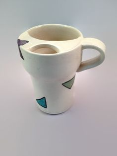 Triangle Travel or Mustache Mug by FutureRelicsGallery on Etsy, $32.00
