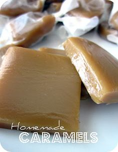 EASY Homemade Caramels from SixSistersStuff.com #Recipe #Christmas