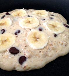 banana chocolate chip oatmeal pancakes