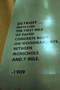Detroit history - building roads