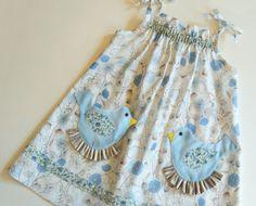 Pretty Bird Pocket Easter Dress Pattern PDF by RubyJeansCloset, $7.95 (Bird pockets!!!)