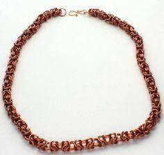Copper Byzantine necklace #HAF #HAFshop #Handmade #Artist $100.00