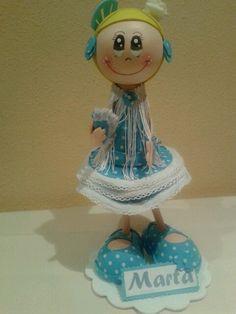 Muñeca fofucha gitana personalizada para Marta/Personalized fofucha doll specially made for Marta