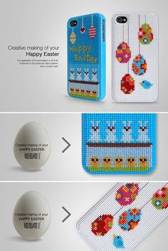 cross stitch your own iPhone 4 case, site has patterns