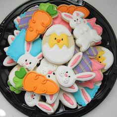 holiday, cake, idea, eastercooki, bake, food, decorated cookies, easter cookies, decor cooki