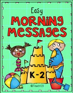 JUNE - Summer - Easy Morning Messages #TPT $Paid