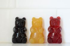 Gummy Bears | Fruit Juice Sweetened Candy - Use Agar when hot rather than Gelatin.