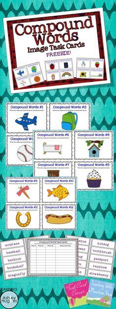 Compound Word Task Card Freebie!