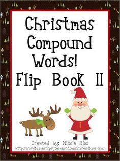 FREEBIE - Compound Word Flip Book
