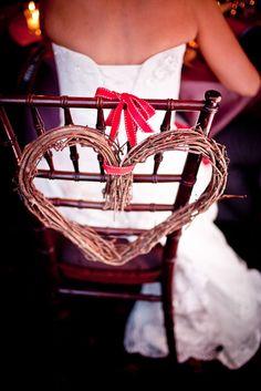 chair decor for a winter wedding