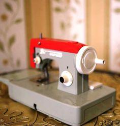 Vintage Soviet Toy Sewing Machine with Original Box  by cherryshop, $49.00
