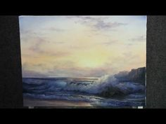 ▶ Paint with Kevin Hill - Sunlit Ocean Wave - YouTube