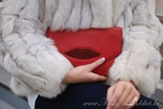 Lips Clutch and Fur